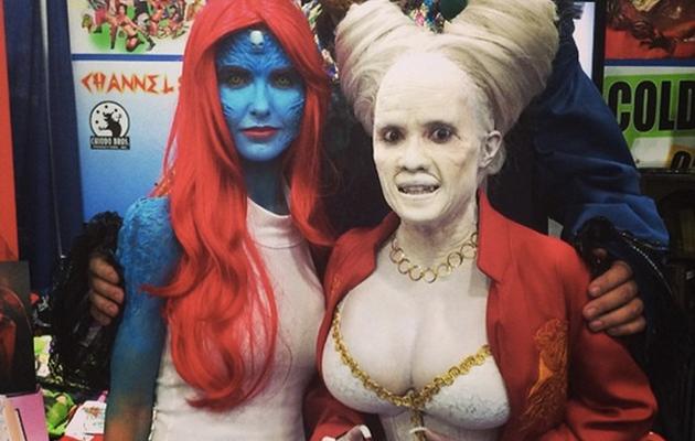 """Audrina Patridge Paints Body Blue as """"X-Men's"""" Mystique For Comic-Con"""