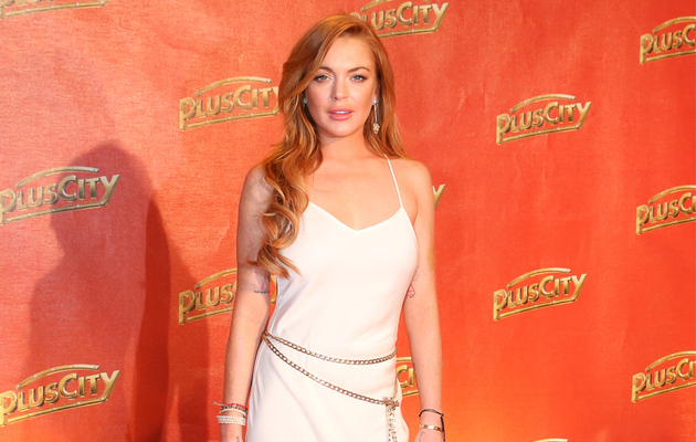 Lindsay Lohan's a Vision in White At Weisses Fest 2014!