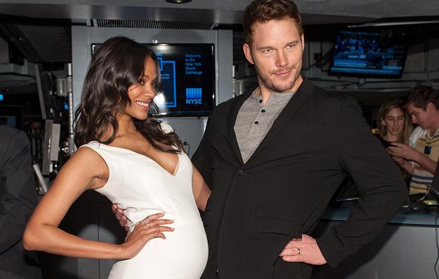 Chris Pratt Has a Baby Bump Too! See Him Alongside Zoe Saldana