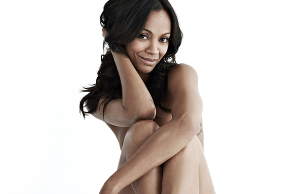 Zoe Saldana Gets Naked for Women's Health, Shows Off Rarely-Seen Tattoos