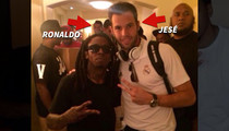 Lil Wayne -- KICKS IT WITH REAL MADRID ... After Meeting with Ronaldo