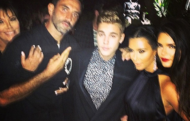 Justin Bieber Cozies Up to Kendall, Kris and Kim in Ibiza -- See the Pics!