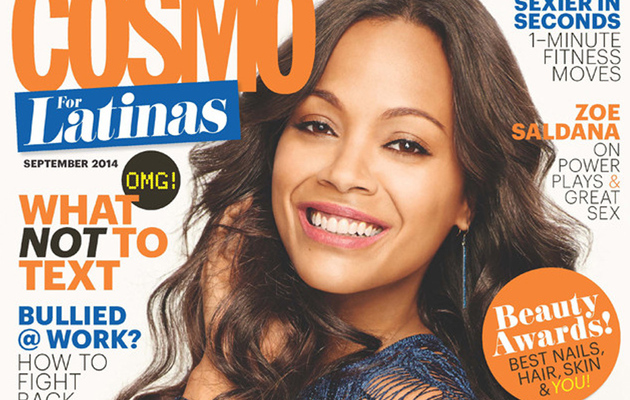"Zoe Saldana Talks Good Sex With Cosmo: ""Be Creative"""