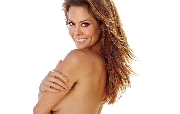 Brooke Burke Goes Topless & Flashes Booty While Sharing Fitness Tips