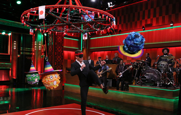 "Watch Will Arnett Play ""Karate Pinata"" With Jimmy Fallon!"