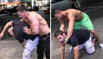 TNA Wrestlers Robbie E, Jessie Godderz, Zema Ion -- Put TMZ Photog on All Fours in NYC