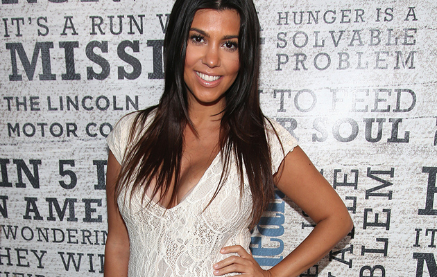 Kourtney Kardashain Flaunts Baby Bump In Skin-Tight Bodysuit