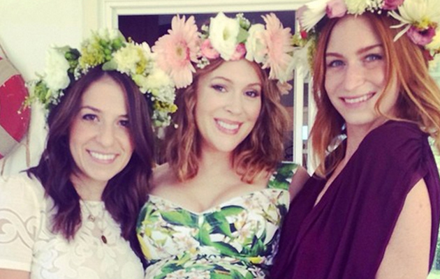 Alyssa Milano Flaunts Baby Bump at Her Shower -- See the Pretty Pics!