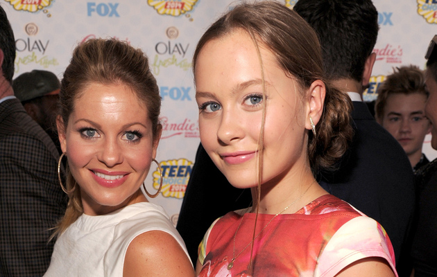 Candace Cameron Brings Mini-Me Daughter Natasha to Teen Choice Awards