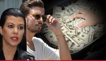Kourtney Kardashian & Scott Disick -- Briefcase Full Of Cash STOLEN!!