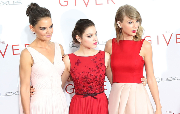 "Katie Holmes, Odeya Rush & Taylor Swift Color-Coordinate at ""The Giver"" Premiere"