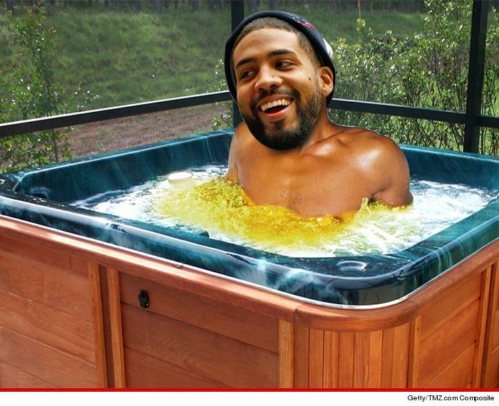 Piss hot tub