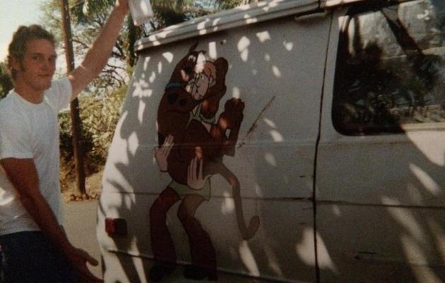 Chris Pratt Shares Flashback Friday Pic From His Stoner, Van-Living Days