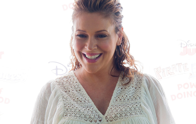 Pregnant Alyssa Milano Proudly Shows Off Her Baby Bump