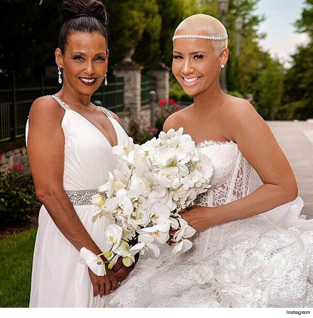 Amber Rose Shares New Wedding Pics To Celebrate 1 Year Anniversary