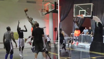 Knicks Star J.R. Smith -- Killin' The Competition ... At Secret NYC Pick-Up Game