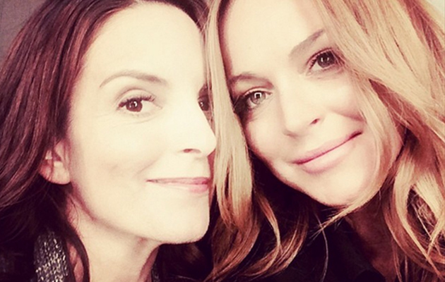 """Lindsay Lohan Has Another """"Mean Girls"""" Reunion ... With Tina Fey!"""