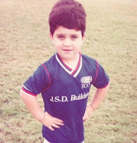 Before this sporty little kid was a lean, mean acting machine... he was just another little kid experiencing the joys of recreation league soccer.