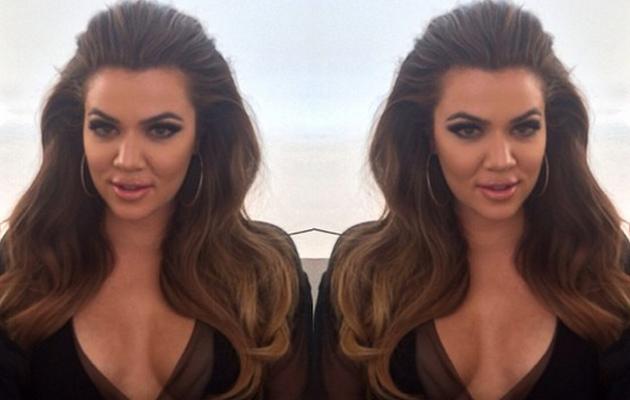 Khloe Kardashian Goes Back to Brunette, Flaunts Major Cleavage in New Instagram Pic