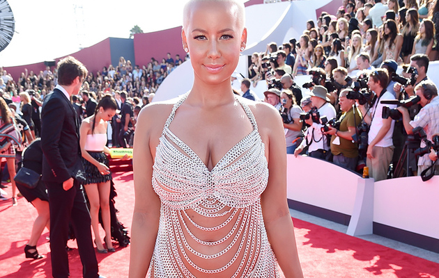 Amber Rose Goes Nearly Naked at MTV Video Music Awards