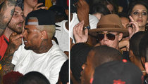 Chris Brown & Justin Bieber -- Partying Together Before Shooting