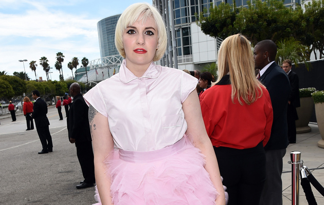 Lena Dunham at the 2014 Emmy Awards -- What Was She Thinking!?