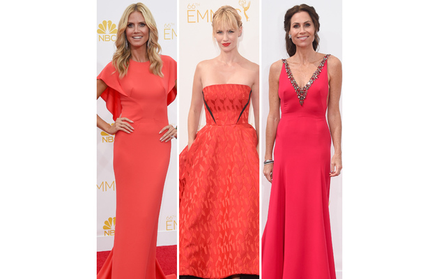 2014 Emmy Awards -- Red Gowns Rule the Red Carpet