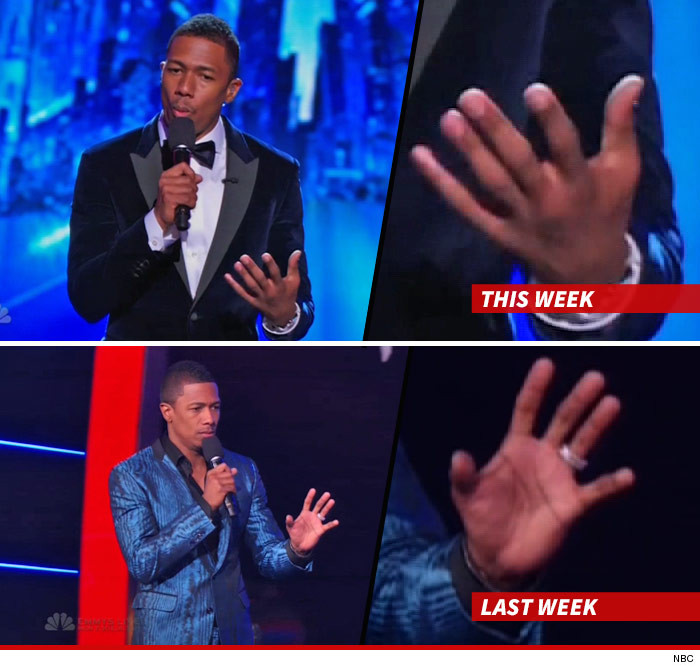 Nick Cannon No Wedding Ring On Americas Got Talent