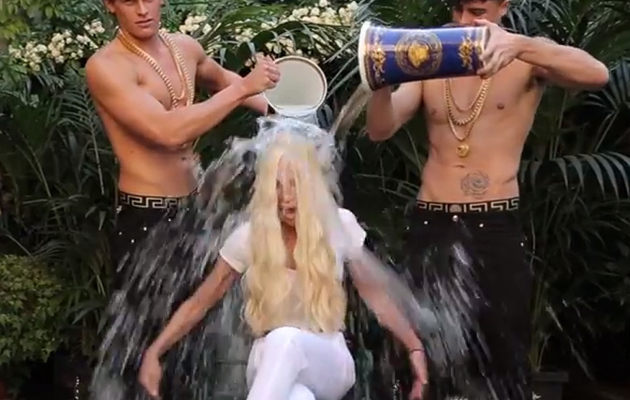 Donatella Versace Takes Ice Bucket Challenge, Makes One BIG Mistake