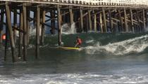 Laird Hamilton -- SHOOTS THE PIER ... Insane Surf Video
