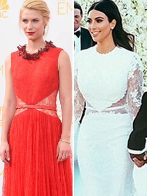 Dueling Dresses: Claire Danes vs. Kim Kardashian