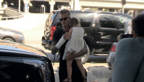 David Beckham -- Flashes Injured Hand After Motorcycle Accident