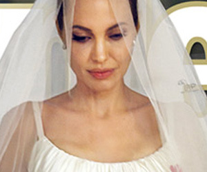 Brad Pitt And Angelina Jolie Wedding Dress Veil