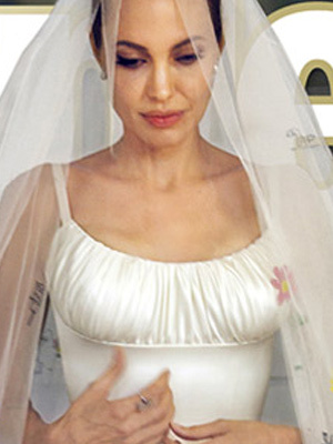 Simply Stunning! See Angelina Jolie's Wedding Dress