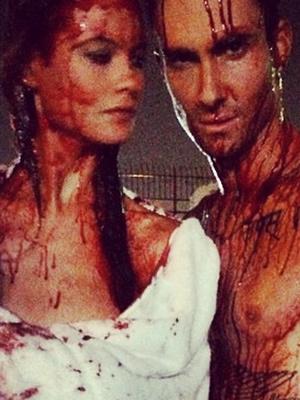 Adam Levine & Behati Prinsloo Get Bloody For New Music Video