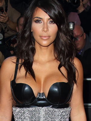 Kim Kardashian Flaunts Major Cleavage at GQ Men of the Year Awards In One Bizarre Outfit