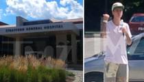 Justin Bieber -- Visits Hospital for Wrist Injury