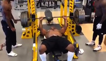 Ex-NFL Star James Harrison -- OLD MAN STRENGTH ... Destroys Steelers Weight Room