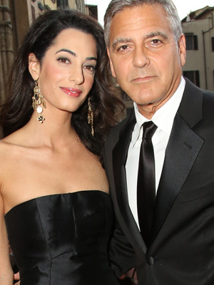 George Clooney and Amal Alamuddin Make Red Carpet Debut