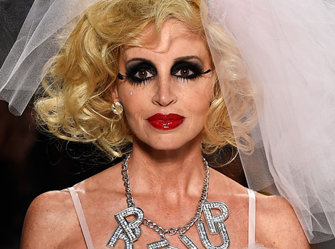 Camille Grammer Gets Crazy Makeover for Betsey Johnson's Fashion Show