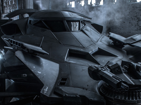 "Zack Snyder Reveals Full ""Real"" Batmobile Photo For ""Batman v. Superman"""