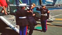 Prez Obama -- Marines Cool with Hot Latte Salute
