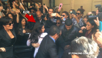 Kim & Kanye -- Armed Guards & Armored Cars ... After Paris Attack