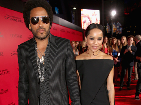 Lenny Kravitz & Daughter Zoe Get Tattoos Together -- What Do They Say?
