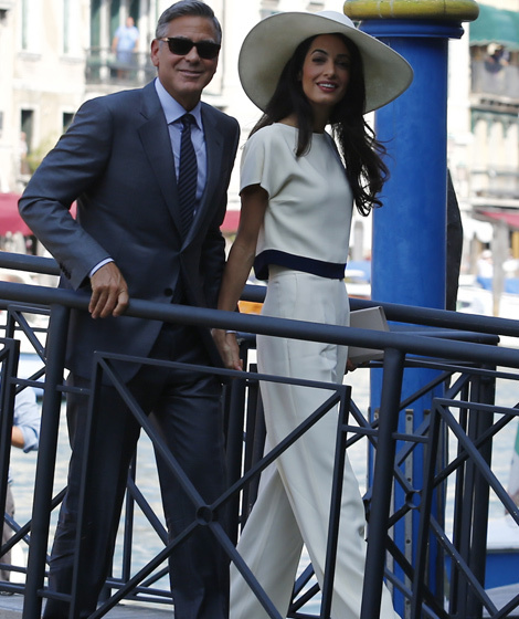 George Clooney and Amal Alamuddin Legally Wed in Civil ...