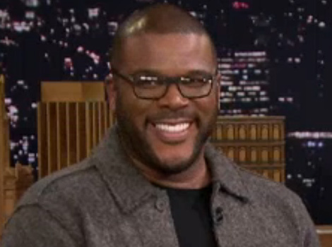 Too Funny! Tyler Perry and Jimmy Fallon Race Jumping Drones