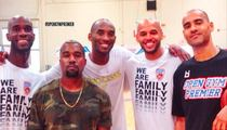 Kobe Bryant -- TRAINING WITH KANYE ... In O.C. Basketball Gym