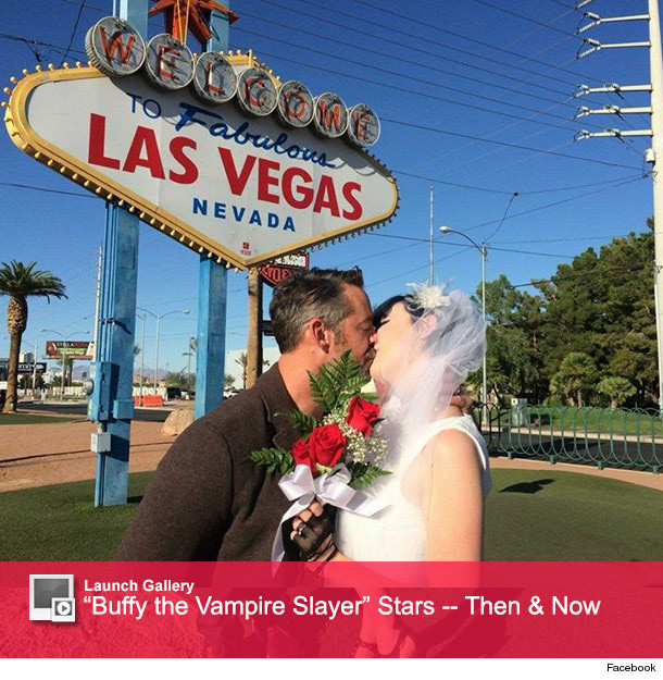 Just married buffy the vampire slayer star nicholas for A cut above salon las vegas