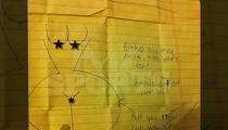 Aaron Hernandez -- FULL FRONTAL NUDITY ... In New Jail Letter