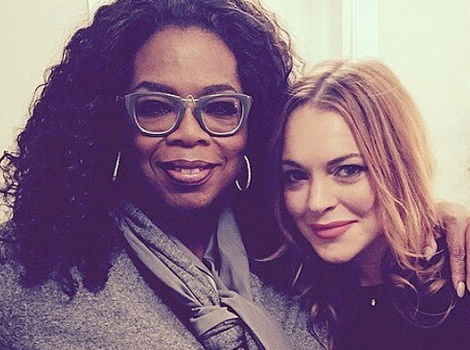 "Oprah Winfrey Shows Support For Lindsay Lohan at ""Speed the Plow"""